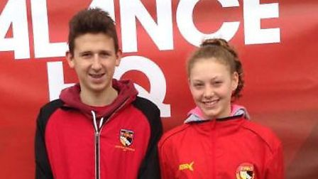 Dereham juniors Jake Stearman and Ellie Foster. Picture by Russell Foster.