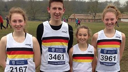 Dereham Juniors, from left to right, Abi Foster, Jake Stearman, Memphis Symonds and Ellie Foster. Pi