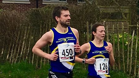 North Norfolk Beach Runners' Chris Merrylees turned in a solid display at Coltishall. Picture by Sa