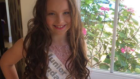 Hollie Stanley from Dereham is a semi finalist in Little Miss Teen Great Britain. Picture: Tina Sta