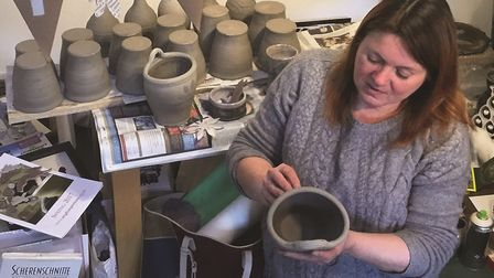 North Norfolk artist Claire Knight who is exhibiting as part of the Norfolk and Norwich Open Studios