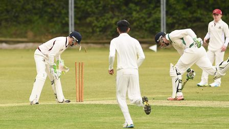 Dereham's Jonny Bidewell was run out on the opening day of the season against Thetford but had better fortune at the...