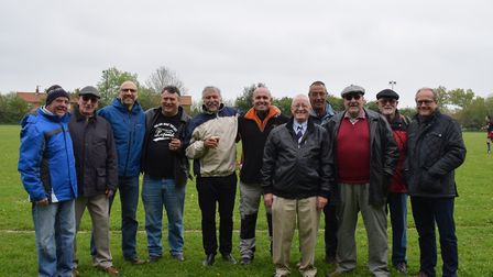 Former players who turned out for Dereham in the 1970s and 80s were among more that 100 people who s