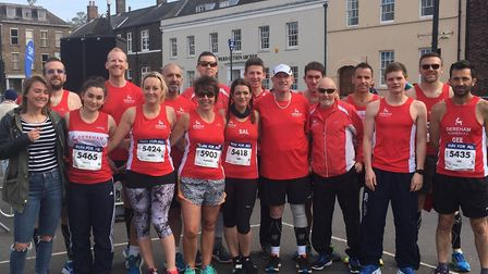 The Dereham contigent at the Great East Anglian Run in King's Lynn. Picture: Dereham Runners