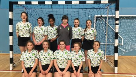 Year 8 girls from Northgate High School in Dereham have reached the U13 National Handball finals. P