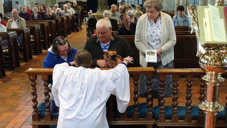 St Nicholas church in Dereham held a pet service. Picture: Evelyn Speed