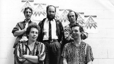 The late, great John Miles Langham (middle) with one of his bands, The After Burners. Photo: East An