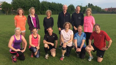 Participants in Dereham Runners AC's Fit for 5k series face the camera. Picture: James Nice