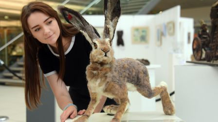 Ella Thomson takes a close look at Land of the Free, a needle felted hare by Dereham artist Angela P