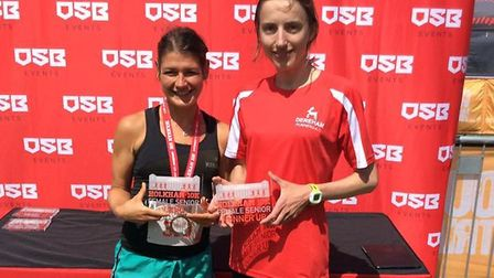 Dereham Runners AC's Ash Gilbert and Elizabeth Daly. Picture: James Nice