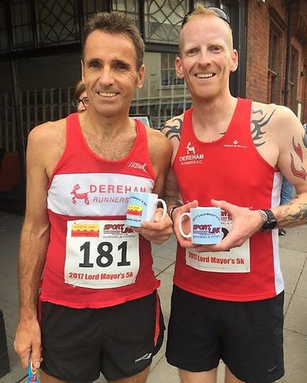 Dereham Runners, Todd Lake and Stephen Lee. Picture: Sally Lee
