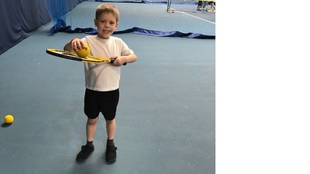 Youngsters from Toftwood Infant School took part in a tennis festival. Picture: Christine Gold