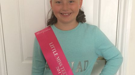 Hollie Stanley is in the final of Little Miss Teen Great Britain 2017. Picture: Tina Stanley
