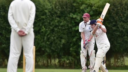 Action from Bungay's match against Swardeston B on Saturday, with Charlie Mattocks in bat for Bungay