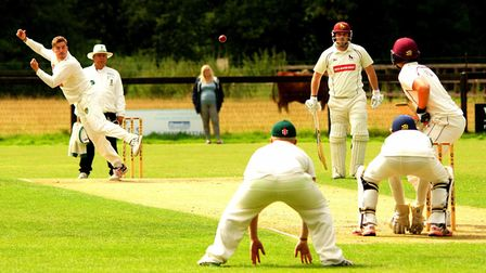Action from Saturday's EAPL match between Great Witchingham and Sudbury at Walcis Park. Picture: Tim