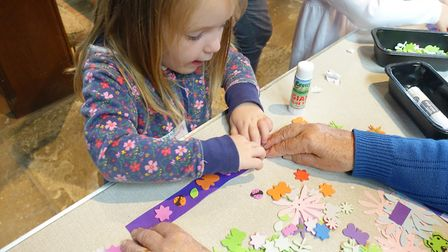 Youngsters enjoy Messy Church at St Nicholas in Dereham. Pictures: Evelyn Speed