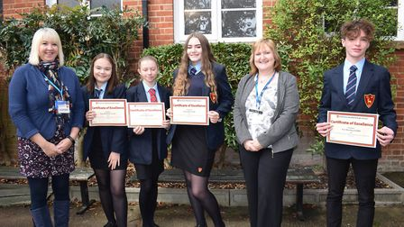 From left Clare Fox, Taya McAllister, Leah Stubbs and Emily Best (work experience at Toftwood Junio