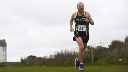 A runner on the first stage of the Round Norfolk Relay. Picture: Ian Burt