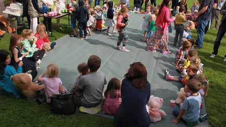 Teddy bears picnic at the Annual Teddy Bear Zip Wire Event at Dereham Windmill. Picture: Bill Pound