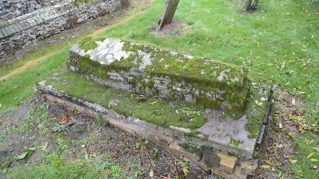 Robert Howlett's grave, which had fallen into disrepair. Picture: Rose Teanby