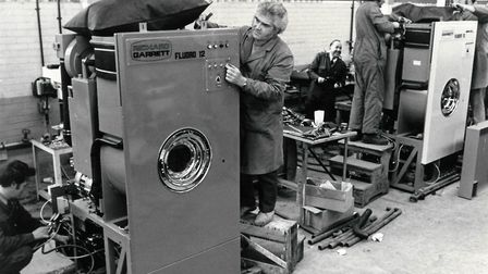 Richard Garrett factory Dereham dry cleaning machines, May 1, 1974. Picture: Archant library