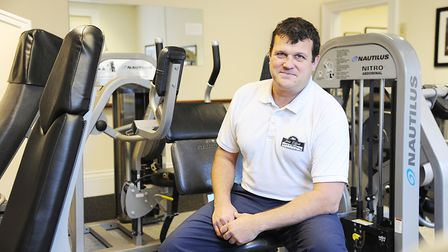 Paul Sandford, owner of Joint Effort Gym in Wells, won a lifetime achievement award in recognition o