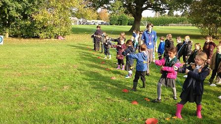 Pupils at Toftwood Infant School enjoyed a medieval day of activities. Photo: Charlotte Clarke