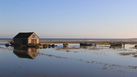 Early morning at Thornham Harbour. Picture: Simon Bamber