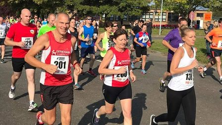 Dereham Road Runners in action in the Bure Valley 10-miler. Picture: Club