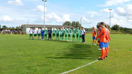 A minute's silence was observed in memory of Aiden Lowe before Bungay Town's match with Hindringham.