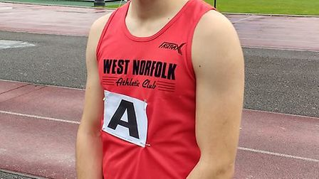 Nathan Protheroe at East Anglian League Finals. Picture: Dawn Protheroe