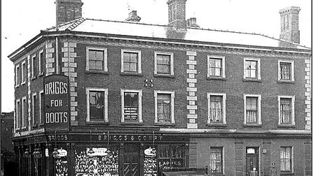 Briggs Shoe Shop in the Market Place in 1915. Picture: Gordon Olley