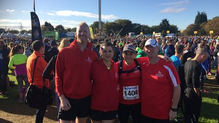Stephen Lee, Sally Lee, Helen Harrison and Philip Websdale who competed for Dereham Runners at the P
