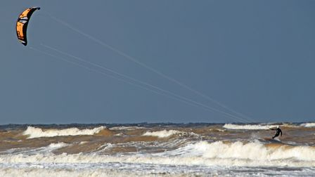 A windy day at Brancaster beach, ideal for windsurfing. Picture: Jason Whichelow