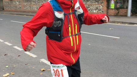 Jonathan Burton of Dereham Runners AC during his epic 100 mile ultra race. Picture: Club