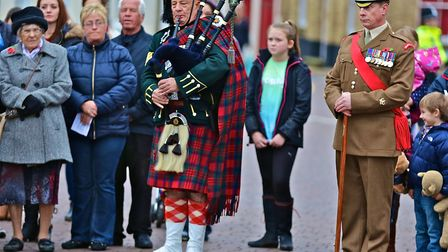 Remembrance Sunday in Fakenham. Picture: Emma Licence