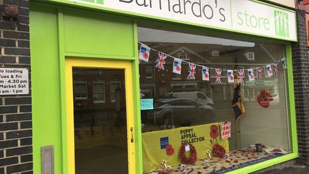 A pop-up Poppy Appeal shop is open in Dereham. Picture: Archant
