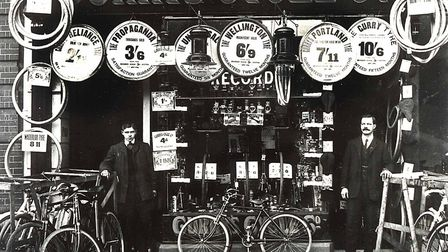 The old Currys Cycles. Picture: Gordon Olley archive