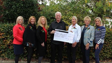 The group raised more than 25,000 for the Lisa Wiles Red Wellies Brain Tumour Support Fund. Photo: A