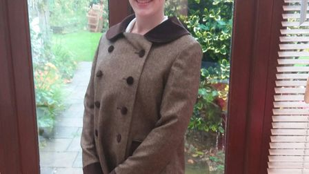 Niamh Walby in her Norland Nanny uniform. Picture supplied by Niamh