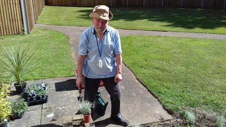 Graham Mason is a keen gardener at Bilney Hall care home. Picture: Healthcare Homes