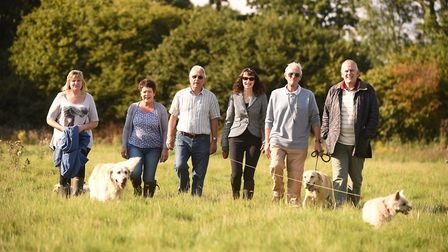 Locals are protesting about proposed plans to build 62 new homes at Neatherd Moor in Dereham. Pictured are (from left)...