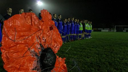 A charity football match was held in Dereham to raise money for the Royal British Legion. Photo: Ada