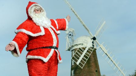 Father Christmas is arriving at Dereham Windmill in time for Christmas. Picture; Matthew Usher.