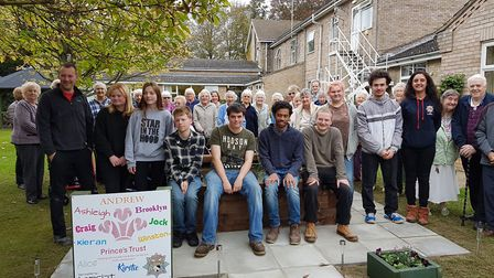 A team of young people renovated a patch of land at Eckling Grange residential home in Dereham. Phot