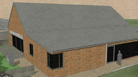 Architect drawings of the proposed new Lyng Village Hall. Image: Charles Emberson Architect