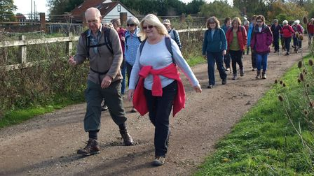 Dereham Walkers Are Welcome walked seven miles from Thuxton back to Dereham. Picture: Ken Hawkins