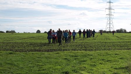 Dereham Walkers Are Welcome took the train to Thuxton and walked the seven miles back to Dereham. P