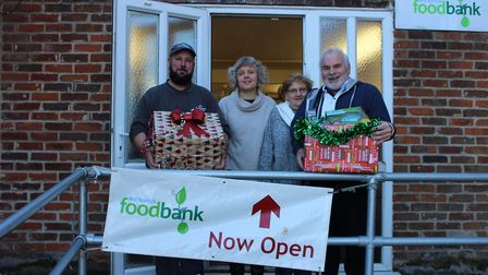 Flagship staff deliver food boxes to the Mid Norfolk Foodbank in Dereham. Picture: Lou Chapman