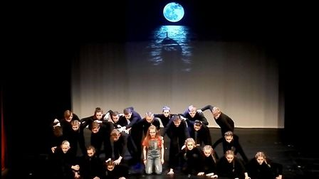 Neatherd High School students performing in When Marnie Was There. Photo: Elizabeth Dark